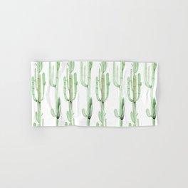 Arizona Wilderness Cactus Green Pattern Hand & Bath Towel