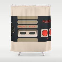 Retro Gamepad Shower Curtain