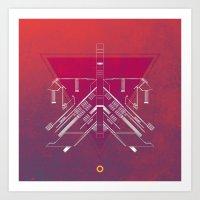 blueprint Art Prints featuring Blueprint by Matt Mills