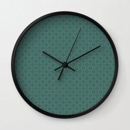 Green (Vert) Tres Petit Geometric Pattern Wall Clock