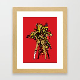 HATHOR ~ RED Framed Art Print