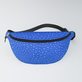Wild Thing Cool Blue Leopard Print Fanny Pack