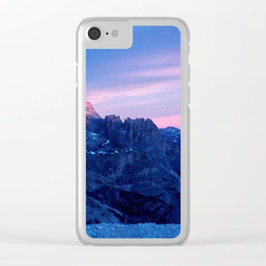 Romantic Sunset in the Snowy Mountains #2 #art #society6 Clear iPhone Case