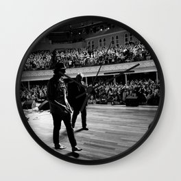 Three Gentlemen (Todd Snider, John Prine, Cowboy Jim) Wall Clock