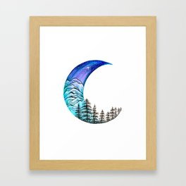 Moon Star Framed Art Print