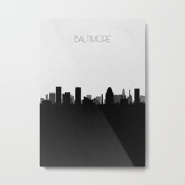 City Skylines: Baltimore Metal Print
