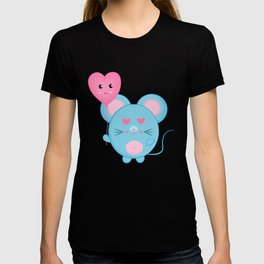 A Blue Rat in Love T-shirt