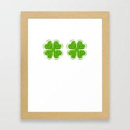 Funny Irish Shamrock Bra Clover Saint Patrick's Day Framed Art Print