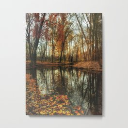 Leaves Are Falling Autumn Is Calling Metal Print