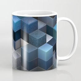 Artistic Cubes 09 blue Coffee Mug