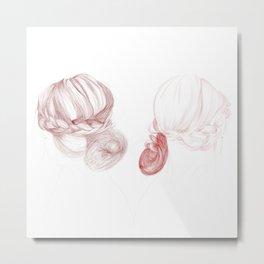 Red Twins Metal Print