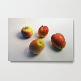 The Four Apples Metal Print