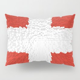 Extruded flag of Switzerland Pillow Sham
