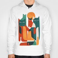 family Hoodies featuring Cat Family by Picomodi