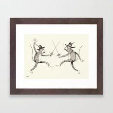 'To The Death!' Framed Art Print