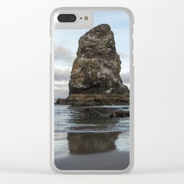 A Serene Morning at Cannon Beach Clear iPhone Case