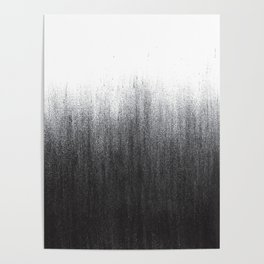 Charcoal Ombré Poster