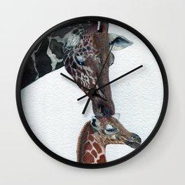 Kisses by Maureen Donovan Wall Clock