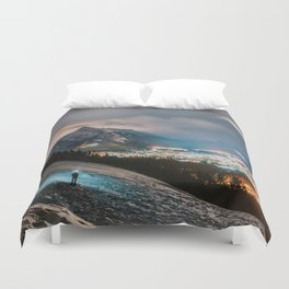 Banff at night Duvet Cover
