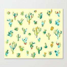 Cactus colorful pattern Canvas Print
