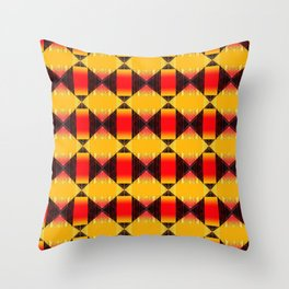 Geometric in Orange Throw Pillow