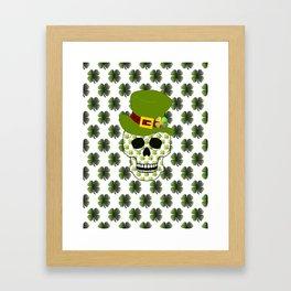 St Paddys Skull - St Patrick's Day Framed Art Print