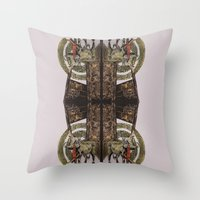 gore Throw Pillows featuring Gore by Smokacinno
