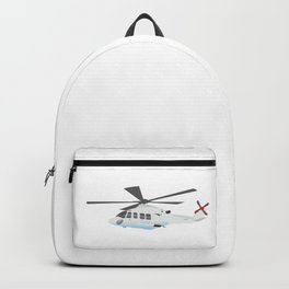 White and Grey Helicopter Backpack
