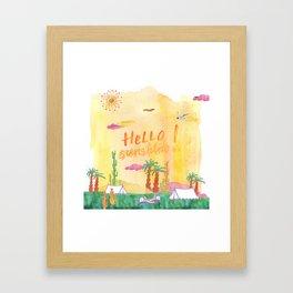 Hello Sunshine Exotic Landscape Framed Art Print
