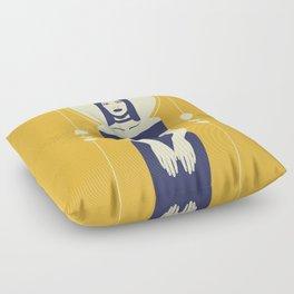 Phaedra Yellow Floor Pillow