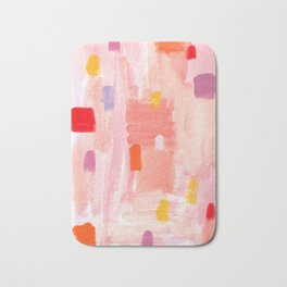 Put Sorrows In A Jar - abstract modern art minimal painting nursery Bath Mat