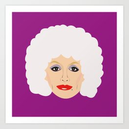 4632c6851b674 Dolly Parton - cartoon style portrait Art Print