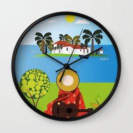 Mexican Villa Wall Clock