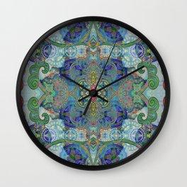 Coral Amulet Boho Illustration Wall Clock