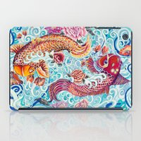 koi fish iPad Cases featuring Koi Fish by Art by Risa Oram