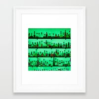 alcohol Framed Art Prints featuring Alcohol Wall by Chee Sim