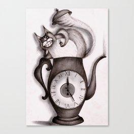 Wonderland: Madness cat-tea Canvas Print