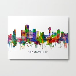 Knoxville Tennessee Skyline Metal Print