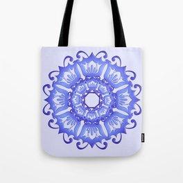 Floral mandala. violet texture. Tote Bag