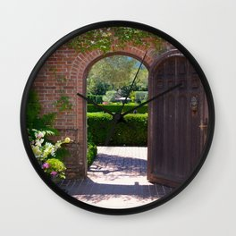 door to the gardens Wall Clock