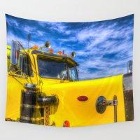 truck Wall Tapestries featuring Peterbilt Truck by David Pyatt