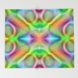 Softly rainbow plastic Throw Blanket
