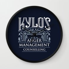 Kylo's Anger Management Counselling Wall Clock