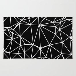 Random delaunay triangulation - black Rug