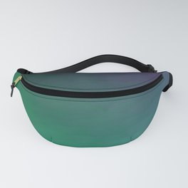 Peacock Green purple blue black ombre waves Fanny Pack