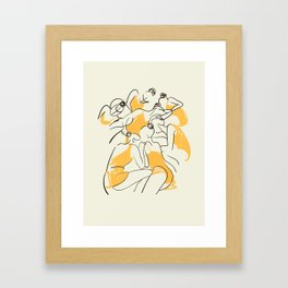 The Ballerinas-Minimal Line Drawing Framed Art Print