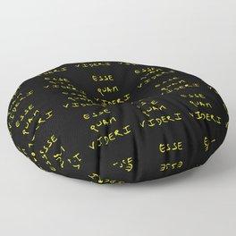 motto of north carolina 2 – esse quam videri Floor Pillow