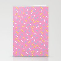 sprinkles Stationery Cards featuring Sprinkles by Diana Willett