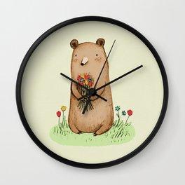 Bear Bouquet Wall Clock