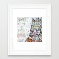 jane davenport Framed Art Prints featuring Butterfly Crown by Jane Davenport by Jane Davenport